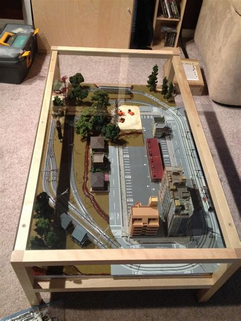 coffee table layout  scale model railroad page