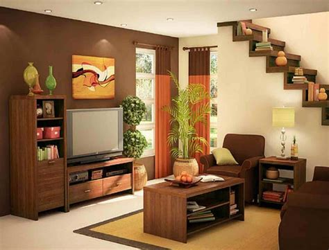 living room small and wooden staircases brick wall design modern living room design with cool staircase for