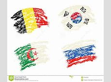 Crayon Draw Of Group H Worldcup Soccer 2014 Country Flags