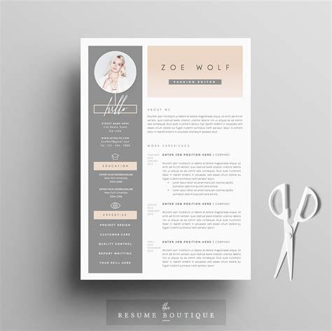 Creative Resume Templates by Resume Template 5pages Dolce Vita Resume Templates