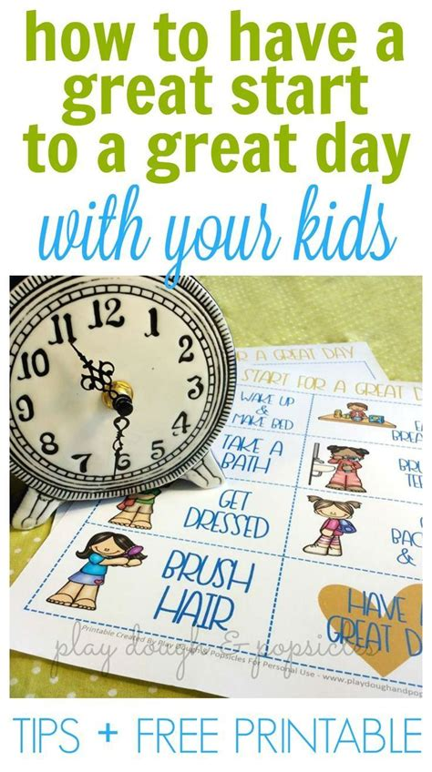 how to start each day great with your free 422 | c4e928e33363910fe464e77ff614a377 preschool printables free printables