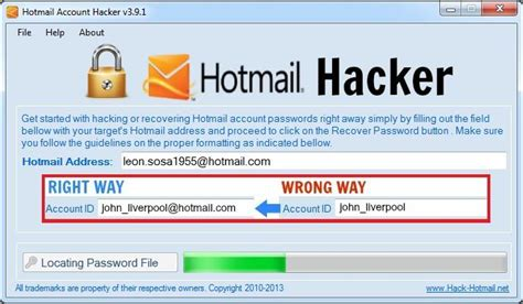 3 free hotmail password hacker software and program