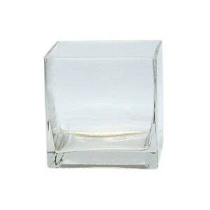 5 Inch Square Vase by 6pc Clear Square Glass Vase Cube Lot 5 Inch 5x5x5