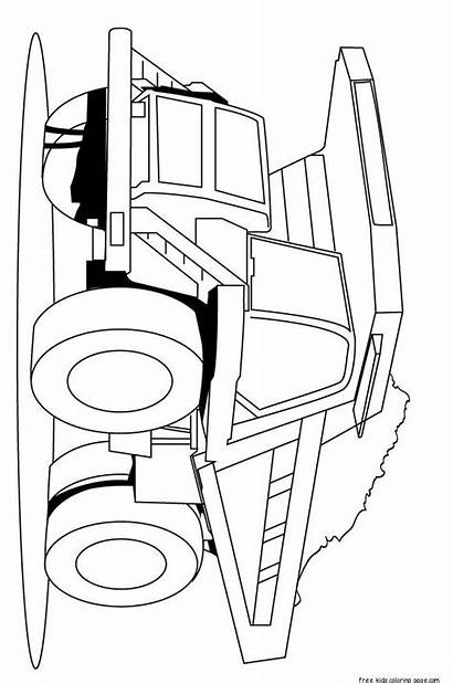 Coloring Pages Peterbilt Semi Truck Printable Drawing