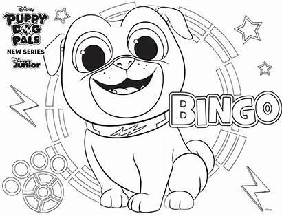 Pals Puppy Dog Coloring Disney Bingo Puppydogpals