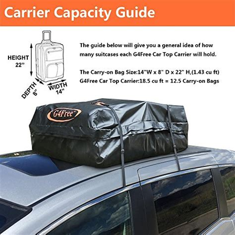 Buy Car Top Carrier by G4free 18 5 Cubic Car Top Carrier Easy To Install