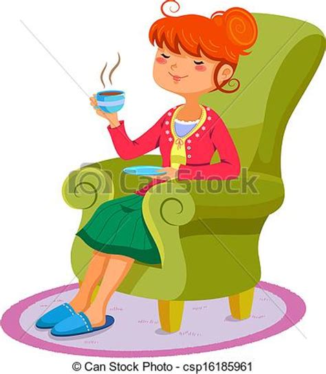 Woman Relaxing Clipart  Clipart Suggest