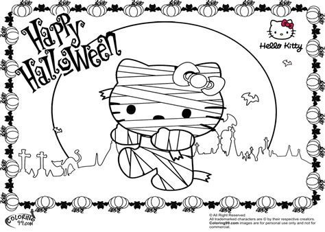 hello kitty coloring pages halloween democraciaejustica