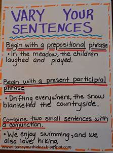 Literacy  U0026 Math Ideas  Vary Sentence Structure