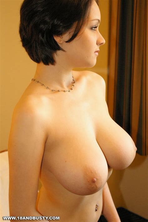 Short Hair Brunette Huge Tits