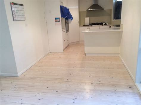 white lime wash on red baltic pine floor   Timber floor