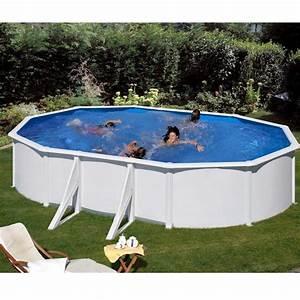 Piscine En Acier : piscine ovale en acier fidji l x l m gr ~ Melissatoandfro.com Idées de Décoration