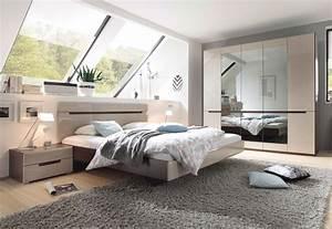 Schlafzimmer Komplett Günstig Kaufen : schlafzimmer komplett 4 teilig sonoma eiche dunkel sand grau hochglanz neu kaufen bei ~ Orissabook.com Haus und Dekorationen