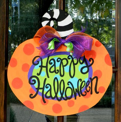pumpkin door hanger happy pumpkin door hanger