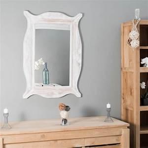 Miroir De Salon : miroir de d coration en bois massif moderne rectangulaire bois patin c rus blanc d 70 ~ Teatrodelosmanantiales.com Idées de Décoration