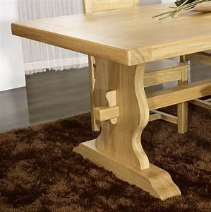 Table En Bois Massif Ancienne : table monast re 200x100 en ch ne massif meuble en ch ne massif ~ Teatrodelosmanantiales.com Idées de Décoration