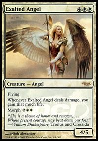 exalted angel creature cards mtg salvation