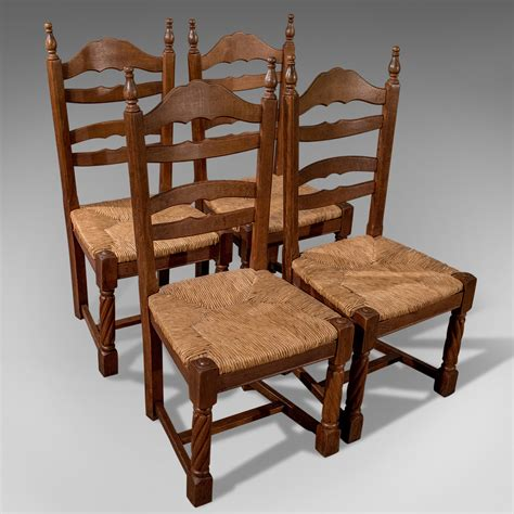 country chairs kitchen quality set of 4 solid oak country kitchen dining 2690