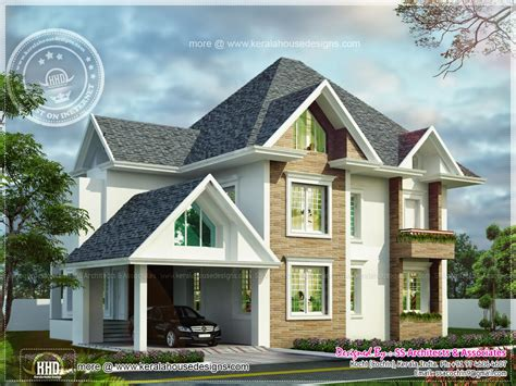 european house designs european model house construction in kerala kerala home