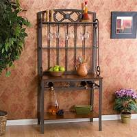 bakers rack with wine storage Southern Enterprises Decorative Bakers Rack with Wine ...