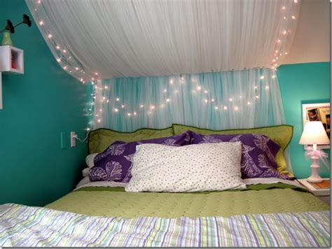 twinkle lights for bedroom the bed canopy made from ikea netted sheers and some white 17654 | 8000fb7a04cb6dd1d559578057656f8a