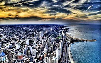 Chicago Lake Michigan Coast Lakes Hdr Wallpapers