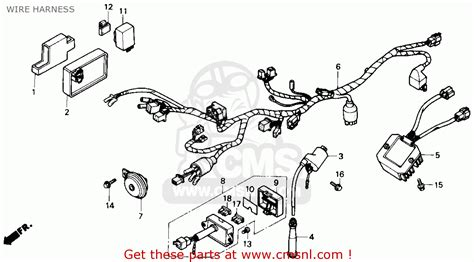 honda nx650 dominator 1988 j usa wire harness buy wire harness spares