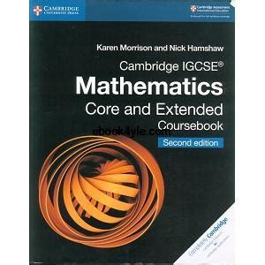 cambridge igcse mathematics core  extended coursebook