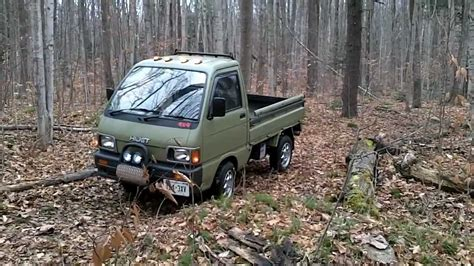 Daihatsu Mini Trucks by Daihatsu Hijet Mini Truck Drive Through The Forest