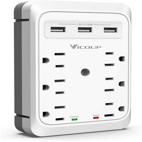 surge protector plug adapter outlet extender ports usb multi