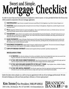 mortgage branson bank With document checklist for mortgage loan
