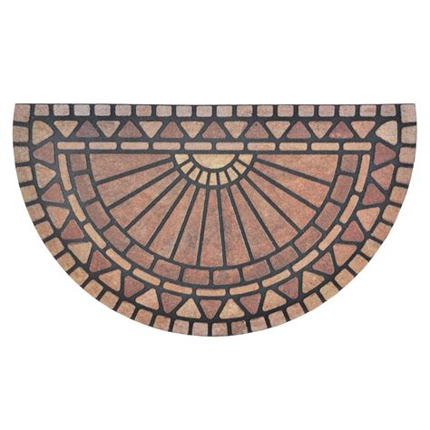 Design Doormats by Flocked Rubber Half Moon Modern Design Doormat Floor 75cm