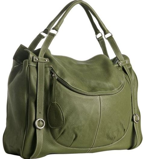 furla salvia leather farrah extra large tote  green lyst