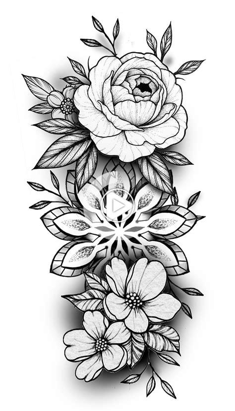 Pin by Pamela Hale on tats in 2020 | Floral mandala tattoo