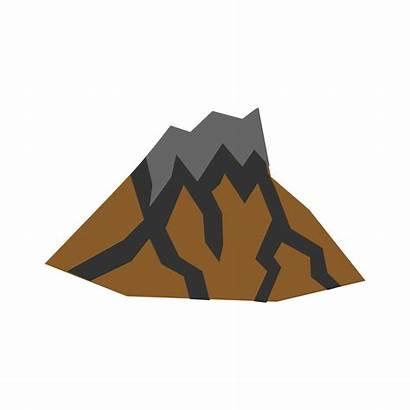 Volcano Dormant Clipart Clip Vector Inactive Lava