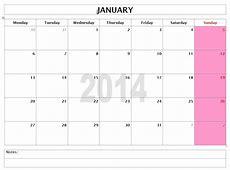 2014 Calendar Templates Microsoft and Open Office Templates