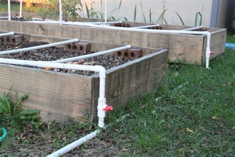 Raised Bed Irrigation  Yard And Garden Projects