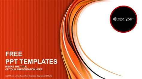 red  orange abstract powerpoint templates
