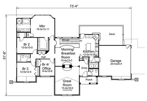 atrium ranch home plan ha ranch traditional st floor master suite cad