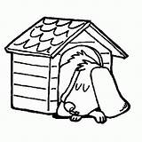 Dog Coloring Drawing Sleeping Pages Kennel Clipart Doghouse Draw Template Simple Clipartmag Printable Snoopy Sketch Popular Getdrawings sketch template