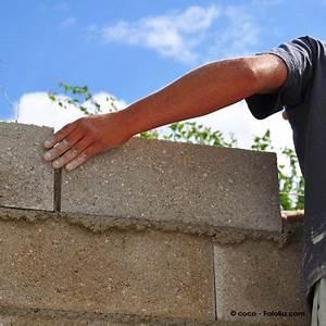 Monter Mur En Parpaing : batir un mur construction maison b ton arm ~ Premium-room.com Idées de Décoration