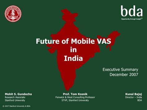 Mobile Vas by Mobile Vas In India Exec Summary