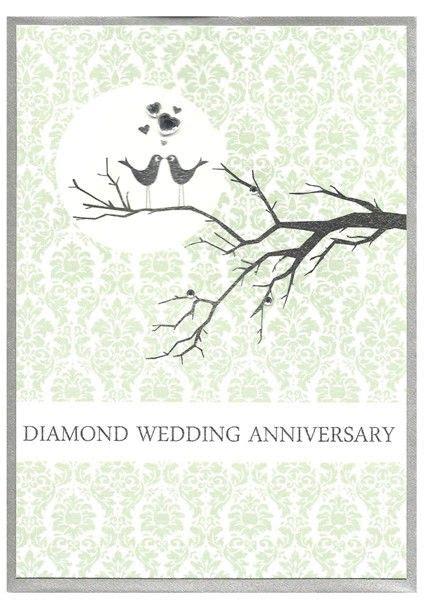love birds diamond wedding anniversary card karenza paperie