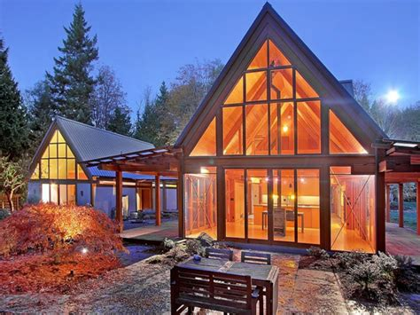 Slope Mountain Cabin House Plans Modern Mountain Cabins