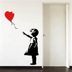 Blue Grey Bedroom by Banksy Childhood Balloon Big Paw Print Wall Art