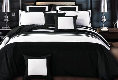 white bed comforters luxton rossier striped black white duvet quilt cover