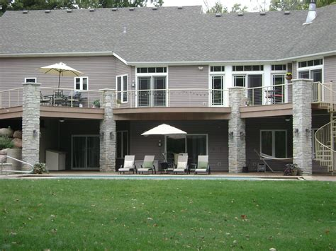 Walk Out Basements by Walk Out Basement With Pool Patio And Deck Above Deck