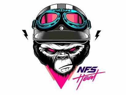 Sticker Heat Nfs Speed Need Monkey Dribbble
