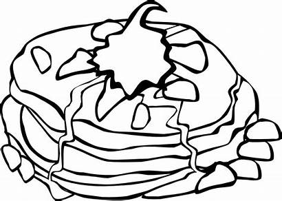 Breakfast Fast Pancakes Clip Cream Whipped Svg