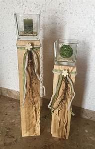 Weihnachtliche Deko Ideen : 2er set s ulen mit glas dekoriert fr hling gr n deko pinterest gl ser dekorieren ~ Whattoseeinmadrid.com Haus und Dekorationen